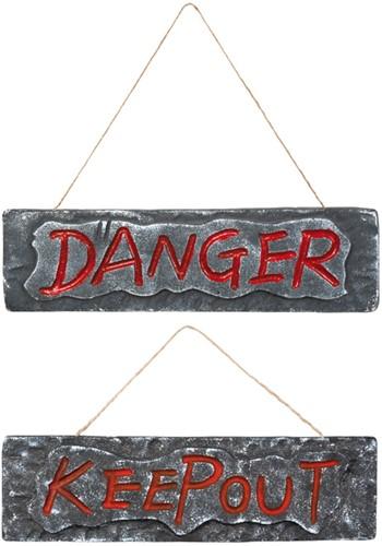 "Deurbord ""DANGER"" (10x35cm)"