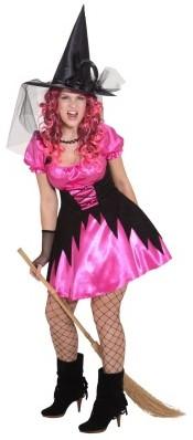 Damesjurk Sexy Heks Leila Pink
