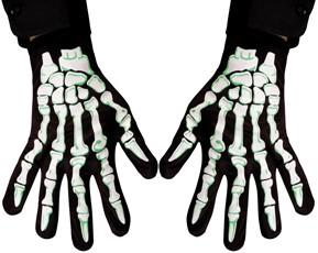 Handschoenen Skelet Zwart/Wit