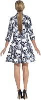 Dameskostuum Skeleton Skulls (2dlg.) (achterkant)