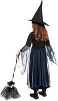 Heksenjurkje Blauw-Zwart met Hoed voor meisjes -3