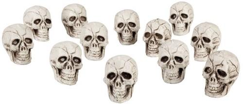 Doodshoofden set van 12 (4cm)