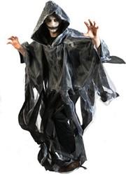 Halloween Cape Grijs (met stroken)