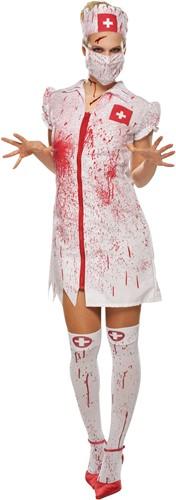 Dameskostuum Bloody Nurse (4-delig)