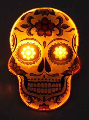 Broche Sugar Skull - Day of the Dead (met verlichting)-2