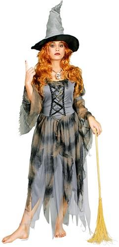 Halloweenjurk Lompen Heks Luxe