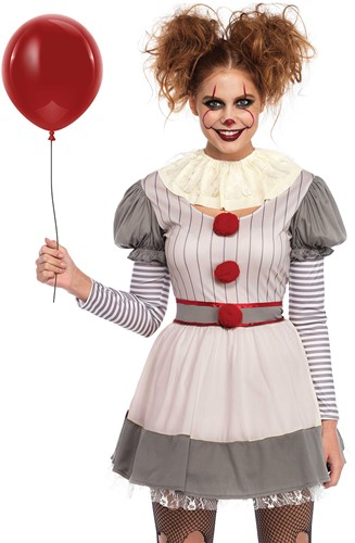 Kostuum Scary Clown Penny voor dames -2