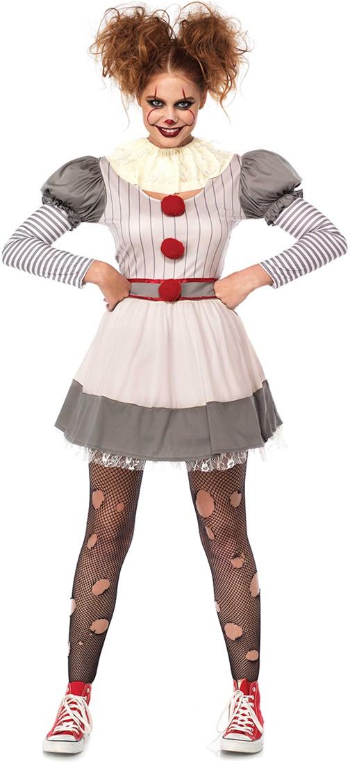 Kostuums Dames.Kostuum Scary Clown Penny Voor Dames