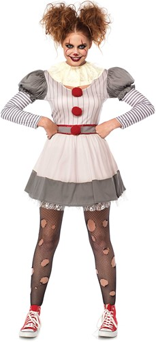 Kostuum Scary Clown Penny voor dames