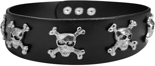 Punk Halsband Crossbones Skulls