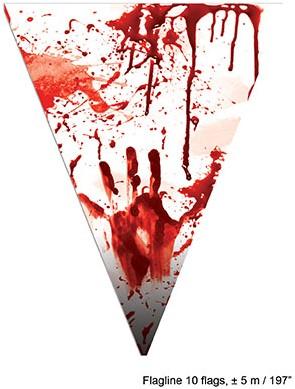 Vlaggenlijn Bloody Hands 5 mtr.