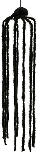 Hangdeco Behaarde Zwarte Spin (150cm)