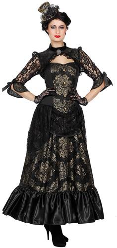 Damesjurk Victoriaanse Dame Luxe met kant
