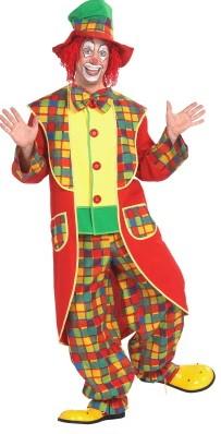 Clownskostuum Halloween met hoge hoed