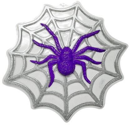 Wanddeco Spin Spinnenweb Glitter (48x48cm)