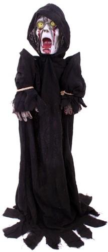 Halloweendecoratie Zombie met bewegingssensor (140cm)