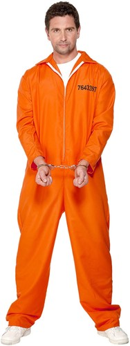 Gevangene Kostuum Amerika Oranje