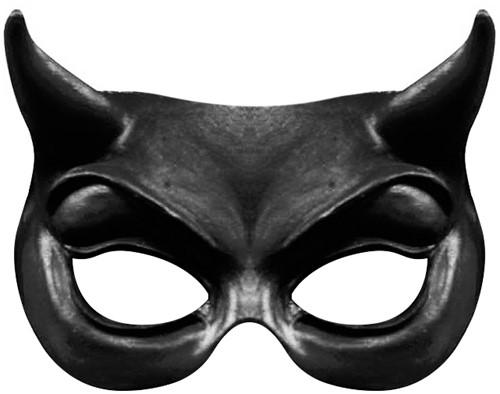 Black Devil Oogmasker (Latex)