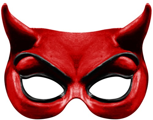 Red Devil Oogmasker (latex)