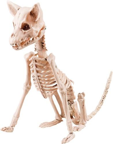 Zittende Hondenskelet Halloweendecoratie (48cm)