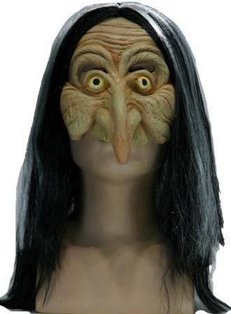 Heks Halfmasker met haar