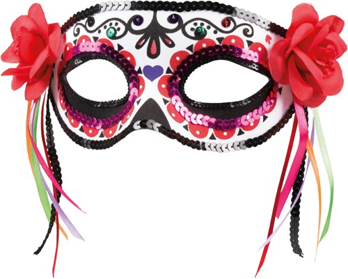 Day of the Dead La Patrona Oogmasker (met Pailletten)