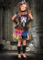 Prinsessen Jurk voor Meisjes met Skeletten Opdruk-3
