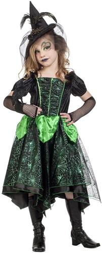 Zwart-Groen Heksenjurkje voor meisjes