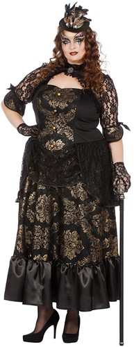 Damesjurk Victoriaanse Dame Luxe (plus size)