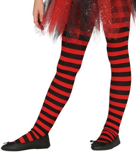 Rode en Zwarte Gestreepte Kinderpanty