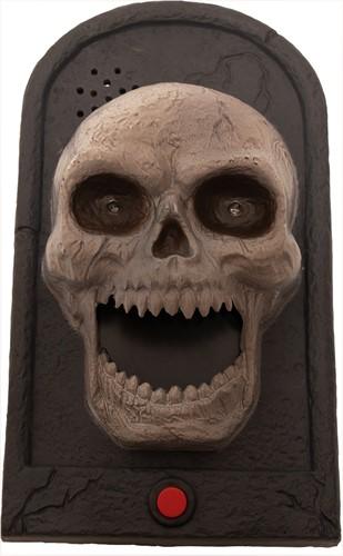 Deurbel Halloween Skull (geluid + licht)