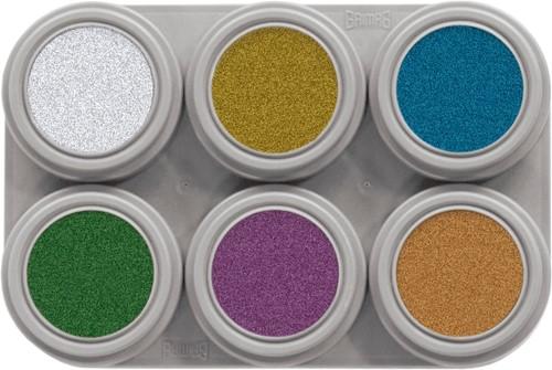 Water Make-up Grimas Palet 6 Metallic (2,5ml)