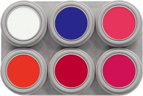 Grimas Water Make-up Fluor 6 Palet (2,5ml)