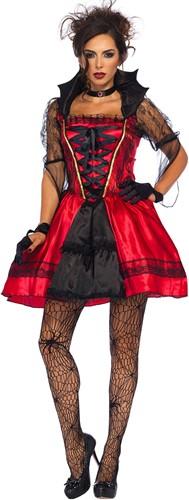 Kostuum Gothic Vampire voor Dames