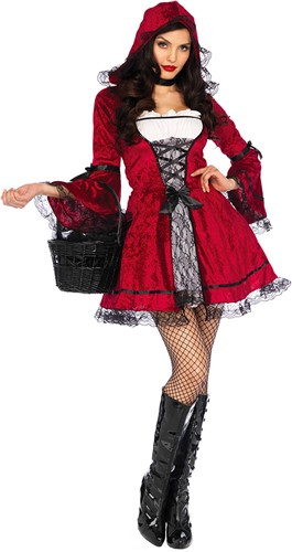 Kostuum Gothic Roodkapje - Miss Red voor Dames