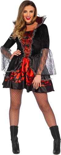 Kostuum Deadly Dark Vampire voor Dames